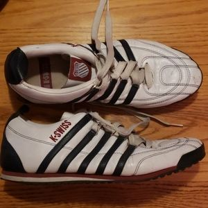 Retro Classic K-Swiss Leather Athletic Shoes